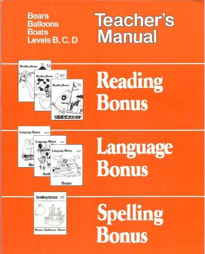9780395312384: Spelling Bonus: Bears Balloons Boats (Teacher's Manual) (Levels B,C,D)