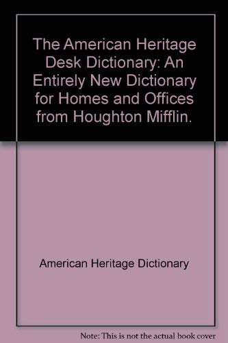 9780395312568: AHD DESK DICTIONARY