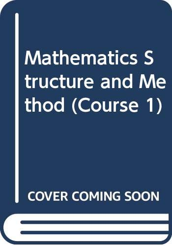 Mathematics Structure and Method (Course 1) (0395313929) by Mary P. Dolciani