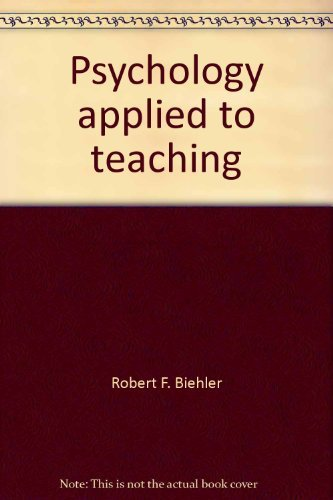 9780395316818: Psychology applied to teaching