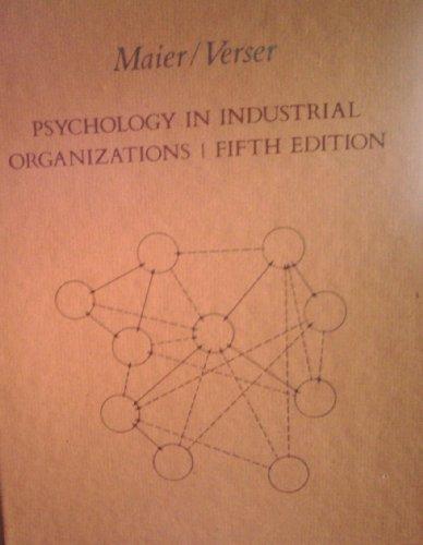 9780395317402: Psychology in Industrial Organizations