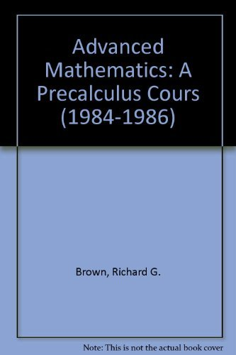 9780395320730: Advanced Mathematics: A Precalculus Cours (1984-1986)
