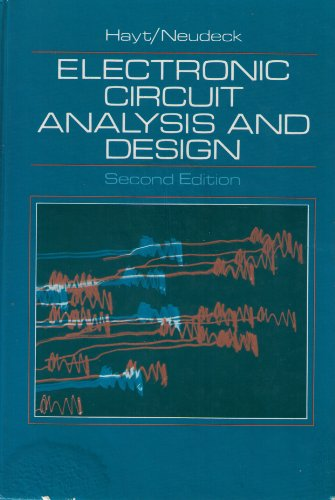 9780395326169: Electronic Circuit Analysis and Design
