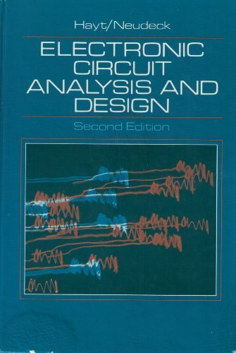 9780395326169: Electronic Circuit Analysis and Design
