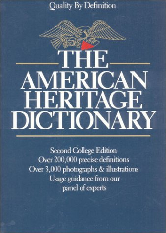 9780395329443: The American Heritage Dictionary (thumb index)