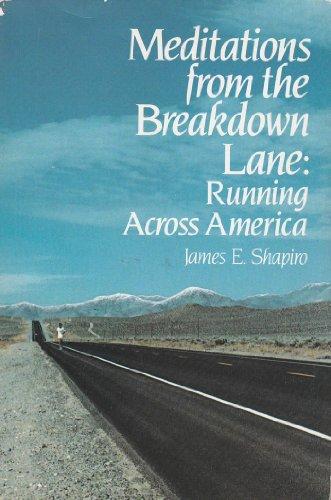 9780395331057: Meditations from the Breakdown Lane: Running Across America
