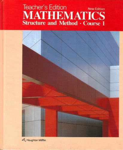 9780395332597: Mathematics Structure and Method Course 1 Teacher's Edition