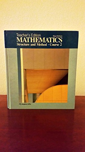9780395332689: Mathematics: Structure and Method Course 2 Teacher's Edition