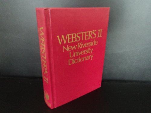 9780395339572: Webster's II New Riverside University Dictionary