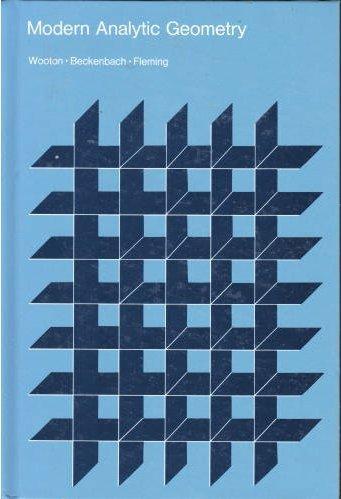 Modern Analytic Geometry: William, Edwin F.