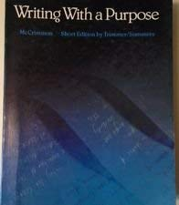 9780395342466: Writing With a Purpose