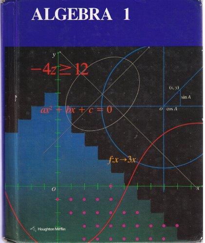 9780395343739: Algebra 1