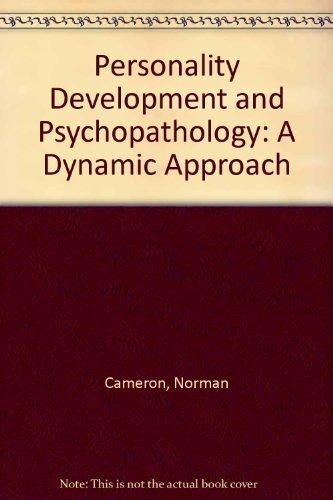 9780395343876: Personality Development and Psychopathology: A Dynamic Approach