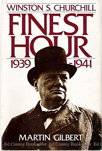 Winston S. Churchill, Vol. 6: Finest Hour, 1939-1941 (0395344026) by Martin Gilbert