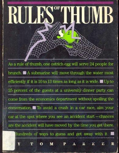 9780395346426: Rules of Thumb