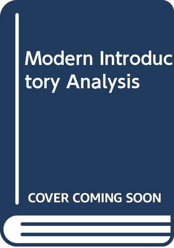 9780395350478: Modern Introductory Analysis
