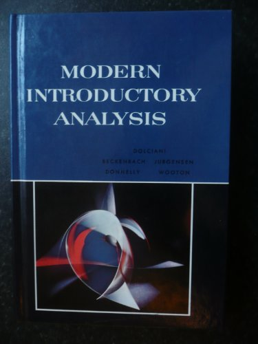9780395350485: Modern Introductory Analysis
