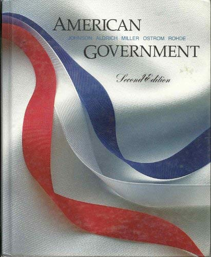9780395351956: American Government: People, Institutions, and Policies