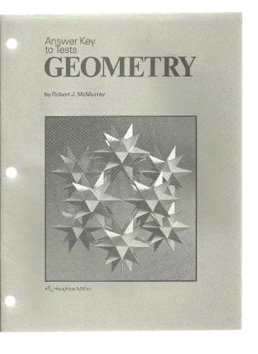 9780395352212: Answer key to tests: Geometry