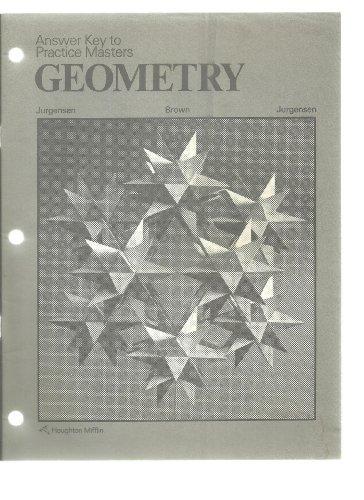 9780395352236: Answer Key to Practice Masters GEOMETRY Jurgensen / Brown / Jurgensen