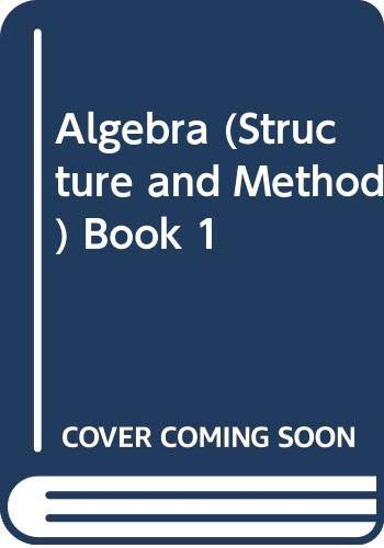 9780395352502: Algebra: Structure and Method Book One 1 [Teacher's Edition]