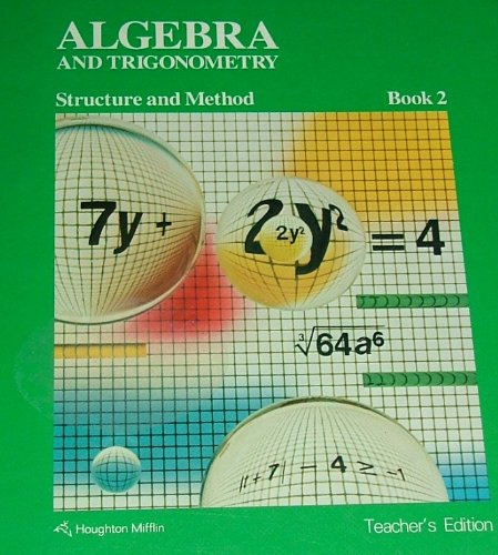 9780395352588: Algebra and Trigonometry: Structure and Method, Book 2 - Teacher's Edition