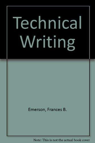 Technical Writing: Emerson, Frances B.