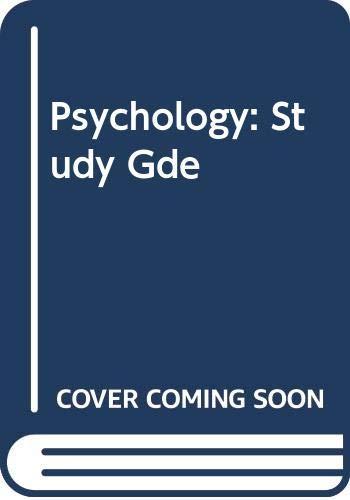 9780395355077: Bridget Schoppert. Douglas A. Bernstein. Study Guide. Psychology