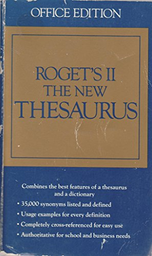 9780395356050: Roget's II the New Thesaurus