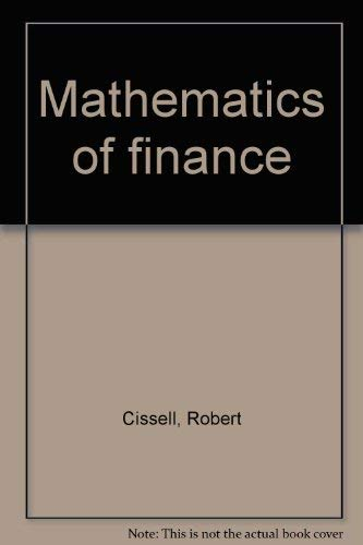 9780395356456: Title: Mathematics of finance