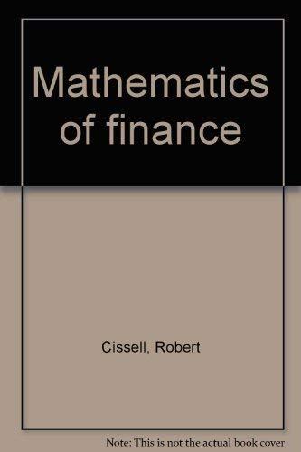 9780395356456: Mathematics of finance