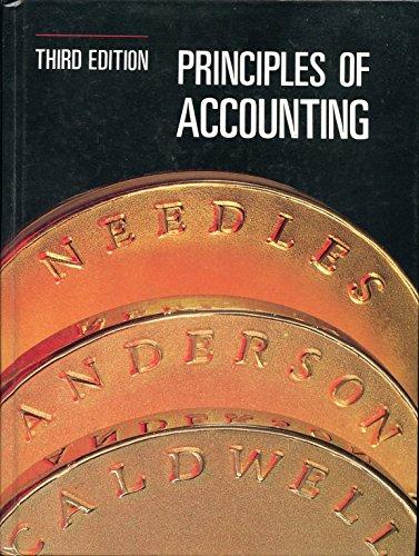 Principles of Accounting: Belverd E. Needles