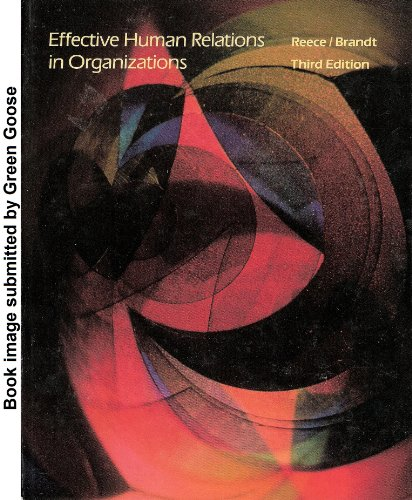 9780395357118: Effective Human Relations in Organizations