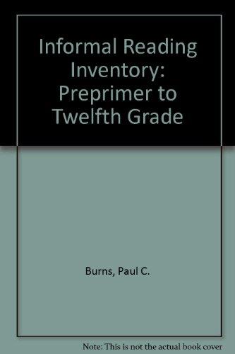 9780395357583: Informal Reading Inventory: Preprimer to Twelfth Grade