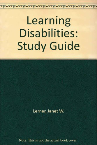9780395357767: Learning Disabilities: Study Guide