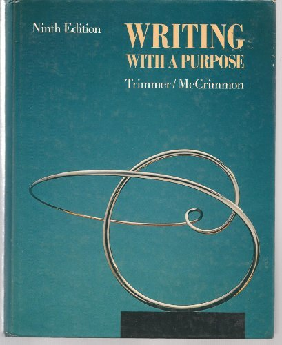 Writing with a Purpose: James M. McCrimmon;