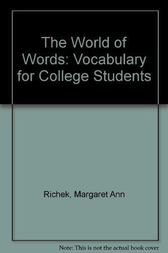 9780395357859: The World of Words: Vocabulary for College Students