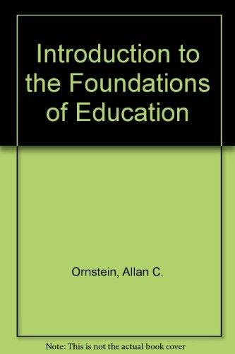 9780395358047: Introduction to the Foundations of Education