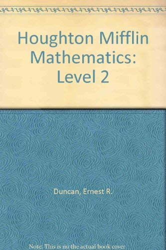 9780395358344: Houghton Mifflin Mathematics: Level 2