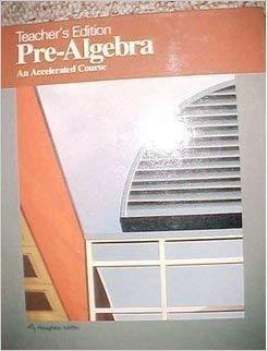 9780395359884: Pre-Algebra: An Accelerated Course, Teacher's Edition
