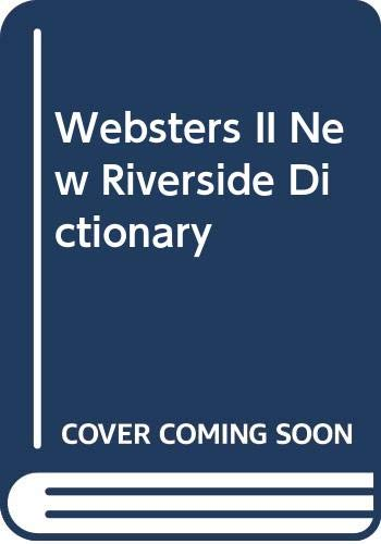 9780395363416: Webster's II New Riverside Dictionary