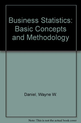 9780395369050: Business Statistics: Basic Concepts and Methodology