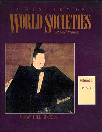 9780395369142: History of World Societies, Volume I (v. 1)