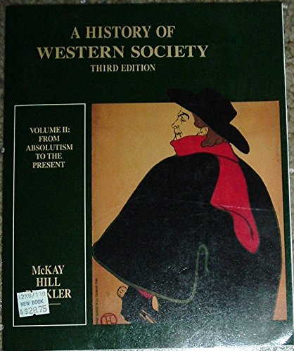 9780395369173: A History of Western Society, Vol. 2: From Absolutism To The Present