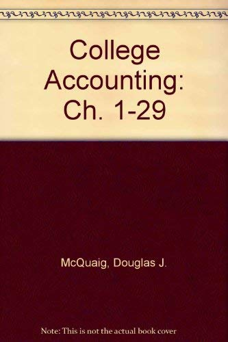 9780395369197: College accounting (Ch. 1-29)