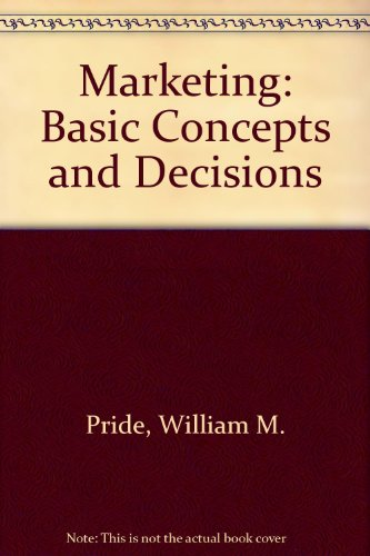 9780395377185: Marketing: Basic Concepts and Decisions