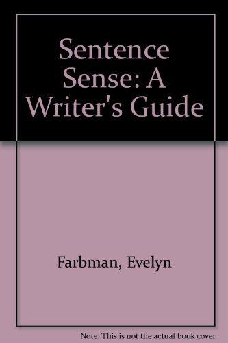 9780395380048: Sentence Sense: A Writer's Guide