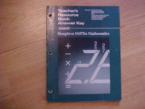 Teacher's Resource Book Answer Key (Houghton Mifflin Mathematics, Level 6): Lelon Capps