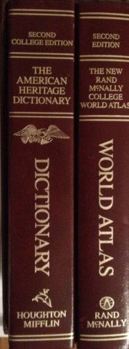 9780395389256: Rand Mcnally College World Atlas/the American Heritage College Dictionary 2 Vol. Set