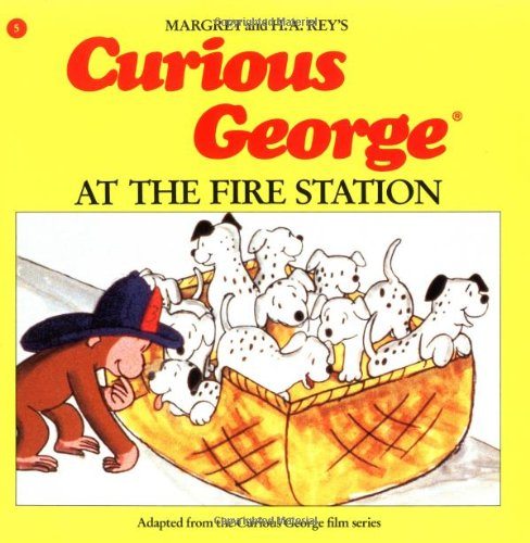 9780395390313: Curious George at the Fire Station